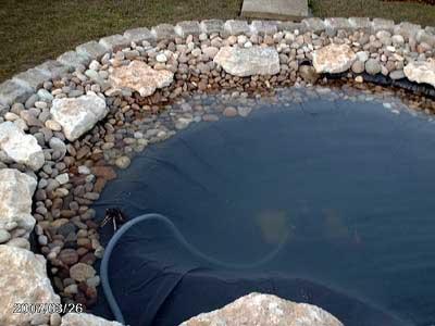Fiche jardin aquatique for Bache pour bassin brico